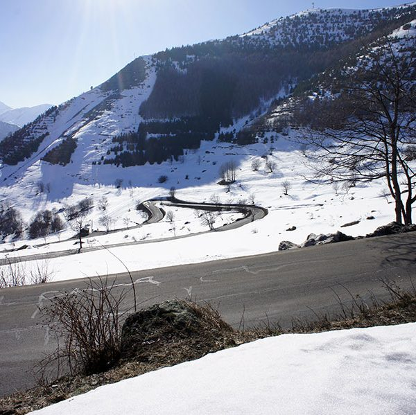 View of valley from chalet